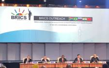 Brazil, Russia, India, China and South Africa (BRICS) leaders. Picture: @BRICS_10/Twitter.