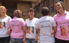 Jasmin Pretorius' family outside the Pretoria High Court after her rapist and killer was given two life sentences. Picture: Vumani Mkhize/EWN.