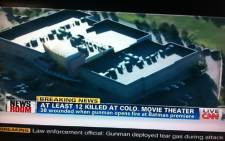 A screengrab on the Batman shooting from CNN