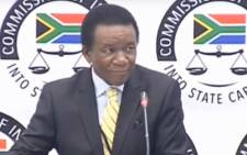 A screengrab of Chief of State Protocol Ambassador Jerry Matjila at the Zondo commission of inquiry on 8 July 2019.