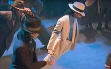 A screengrab of Michael Jackson's dance move from the 'Smooth Criminal' video.