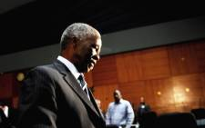 Former president Thabo Mbeki is seen during a break in proceedings at the Seriti Commission of Inquiry where he was testifying in Pretoria on 17 July 2014. Picture: Sapa.