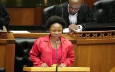 EFF MP Naledi Chirwa during her maiden speech during the Sona Debate on 25 June 2019. Picture: @ParliamentofRSA/Twitter