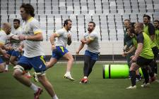 The Springboks train at Cape Town Stadium on 1 June 2015. Picture: Aletta Gardner/EWN