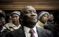 Police Minister Bheki Cele attended the first court appearance of four suspects arrested in connection with the killing of at least two officers at Germiston Magistrates Court in Ekurhuleni on 16 July 2018. Picture: Sethembiso Zulu/EWN