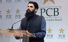 FILE: Pakistan cricket coach Misbah-ul-Haq. Picture: @TheRealPCB/Twitter.