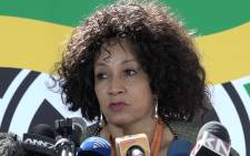 FILE:  Human Settlements Minister Lindiwe Sisulu. Picture: Louise McAuliffe/EWN