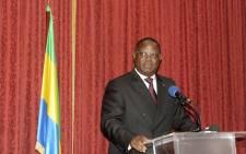 Prime Minister of Gabon Emmanuel Issoze Ngondet. Picture: AFP.