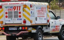 Netcare 911 vehicle. Picture: Taurai Maduna/Eyewitness News