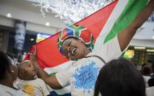 South Africans celebrate the return of the Banyana Banyana from the 2018 Women's African Cup of Nations (AFCON). Picture: Sethembiso Zulu/EWN
