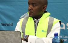 Screengrab of Prasa's suspended engineering chief Daniel Mtimkhulu. Picture: Youtube.