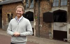 FILE: Britain's Prince Harry, Duke of Sussex, speaks to members of the media at Windsor Castle in Windsor, west of London on 6 May 2019, following the announcement that his wife, Britain's Meghan, Duchess of Sussex has given birth to a son.  Picture: AFP