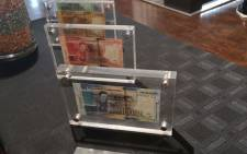South Africa Reserve Bank officially launched new notes and a R5 coin in celebration of Nelson Mandela's centenary year. Picture: Kayleen Morgan/EWN
