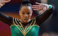 Gymnast Caitlin Rooskrantz. Picture: @SAGymnastics/Twitter