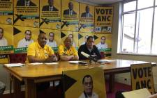 FILE: ANC mayoral candidate Danny Jordaan and Eastern Cape chairperson Phumulo Masualle. Picture: Xolani Koyana/EWN.