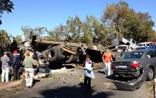 Two trucks and around 14 cars were involved in a deadly accident on 14th Avenue in Constantia, west of Johannesburg, on 14 June 2013. Picture: iWitness