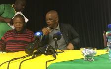 ANC Secretary-General Ace Magashule at the briefing on the interim structure that has been established to coordinate the re-run of the KZN conference. Picture: Ziyanda Ngcobo/EWN.