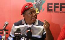 "FILE: EFF leader Julius Malema.  Picture: Christa Eybers/EWN""."