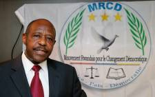 FILE: Rwandan Movement for Democratic Change (MRCD) MRCD-UBUMWE chairman Paul Rusesabagina speaks during a press conference of the political platform MRCD-UBUMWE and the political party RDI-EWANDA RWIZA, concerning the political and security situation in Rwanda, in Brussels, on 18 June 2019. Pictur: AFP