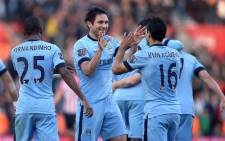 FILE: Manchester City players celebrate Frank Lampard's goal against Leicester City in the English Premiership on 14 December 2014. Picture: Official Manchester City Facebook page.