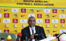 FILE: Molefi Ntseki has been sacked after Bafana Bafana failed to qualify for the 2022 Africa Cup of Nations tournament. Picture: @BafanaBafana/Twitter