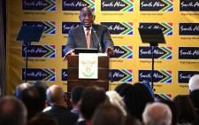 President Cyril Ramaphosa addresses the World Economic Forum Africa event at the CTICC in Cape Town on 4 September 2019. Picture: @PresidencyZA/Twitter