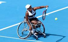 South Africa's wheelchair tennis ace Kgothatso 'KG' Montjane sealed her place in the Wimbledon singles final with a win over Japan's Momoko Ohtani on 9 July 2021. Picture: @TennisSA/Twitter