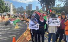 Protesters march through the streets of Cape Town on 12 May 2021 in support of Palestine following the deadly clashes between the Israeli military and Palestinian militants in Gaza. Picture: Shamiela Fisher/Eyewitness News