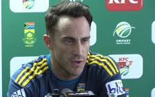 Proteas T20 captain Faf du Plessis will skipper the side in the ICC World Twenty20 in March. Picture: Vumani Mkhize/EWN