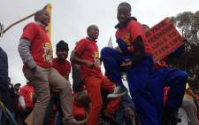 Around 200,000 Numsa-affiliated members downed tools in the engineering and metals industries on 1 July. Picture: Aletta Gardner/EWN.