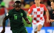 Victor Moses in action for Nigeria against Croatia at the 2018 FIFA World Cup in Russia. Picture: @VictorMoses/Twitter