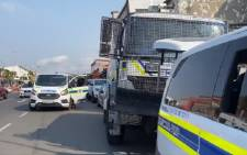 There was a heavy police presence outside the Verulam Magistrates Court on 15 September 2021, where Dylan Govender, his brother Ned Govender and Jeetendra Jaikissoon were appearing. The trio is among those arrested in connection with the deadly violence in Phoenix in July. Picture: Nhlanhla Mabaso/Eyewitness News.
