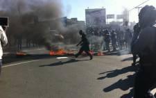 Protesters in Zandspruit. Picture: Rahima Essop/EWN