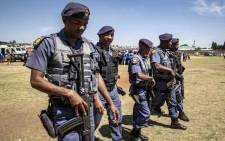 FILE: Members of the Flying Squad, along with POP, PPS and TRT were present during Minister of Police Bheki Cele's address on 2 October 2018.  Picture: Thomas Holder/EWN