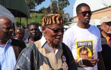 IFP leader Mangosuthu Buthelezi campaigning ahead of elections. Picture: @IFPinParliament/Twitter