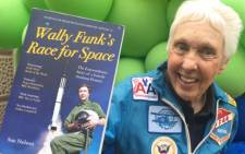 Trailblazing woman aviator Wally Funk, 82, will join Jeff Bezos in July on the first crewed spaceflight for the billionaire's company Blue Origin. Picture: Twitter/@ScienceNelson