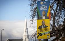 Election posters in Beaufort West's Donkin Street on 6 July 2016. Picture: Aletta Harrison/EWN.