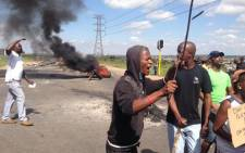 FILE: Durban Deep residents protest over housing in Roodepoort in the West Rand on 23 January. Picture: Lesego Ngobeni/EWN.
