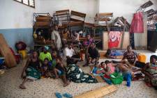 A shelter set up for victims of Cyclone Idai in Beira in a building that used to be a school. Picture: Christa Eybers/EWN