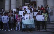 Members of the Elsies River community were present at the Western Cape High Court on 14 May 2018 where the trial of Mortimer Saunders was set to begin. Picture: Cindy Archillies/EWN