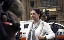 Convicted racist Vicky Momberg appeared in the High Court in Johannesburg in a bid to appeal her two-year sentence for calling a black officer a k****r in 2016. Picture: Sethembiso Zulu/EWN