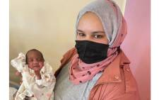 Nawaal Moses is overjoyed that her son Abdul-Khaaliq Moses is now at home. Picture: Melomed Gatesville Hospital