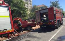 Firefighters on the scene of a fire at Stellenbosch University on 22 February 2015. Picture: Natalie Malgas/EWN.