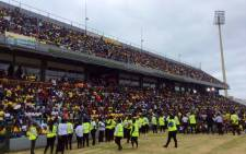 The stadium is a sea of black, green and gold as people prepare for the ANC's 106th anniversary celebrations. Picture: Twitter @myanc
