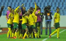 FILE: Banyana Banyana celebrate a goal. Picture: @GovernmentZA/Twitter