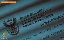 A screengrab from Al Jazeera's Spy Cables video shows a South African State Security Agency leaked document.