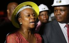 Gauteng Health MEC Gwen Ramokgopa speaks at the Charlotte Maxeke hospital on Thursday 2 March after a part of the roof collapsed injuring 5.  Picture: Christa Eybers/EWN