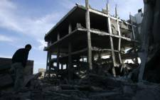 A bombed building in Gaza. Picture: AFP.