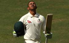 FILE: Australia's Usman Khawaja celebrates his century. Picture: @cricketcomau/Twitter