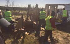 FILE: Most of the structures which were built illegally on 7 April 2015 have been completely destroyed. Picture: Xolani Koyana/EWN.